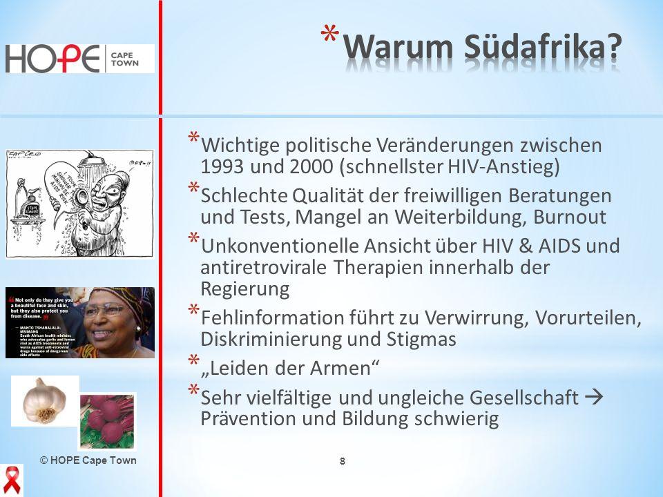 Warum Südafrika Wichtige politische Veränderungen zwischen 1993 und 2000 (schnellster HIV-Anstieg)