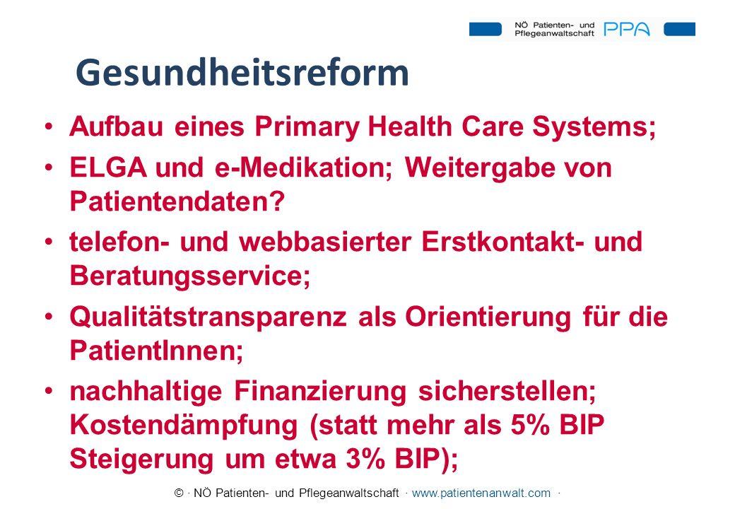 Gesundheitsreform Aufbau eines Primary Health Care Systems;