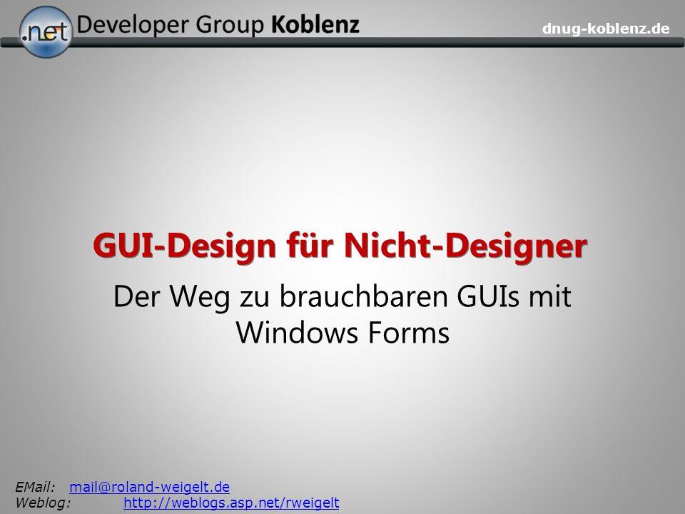 GUI-Design für Nicht-Designer
