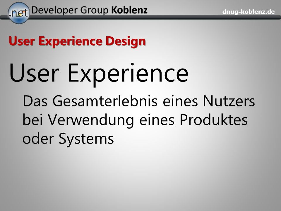 User Experience Design