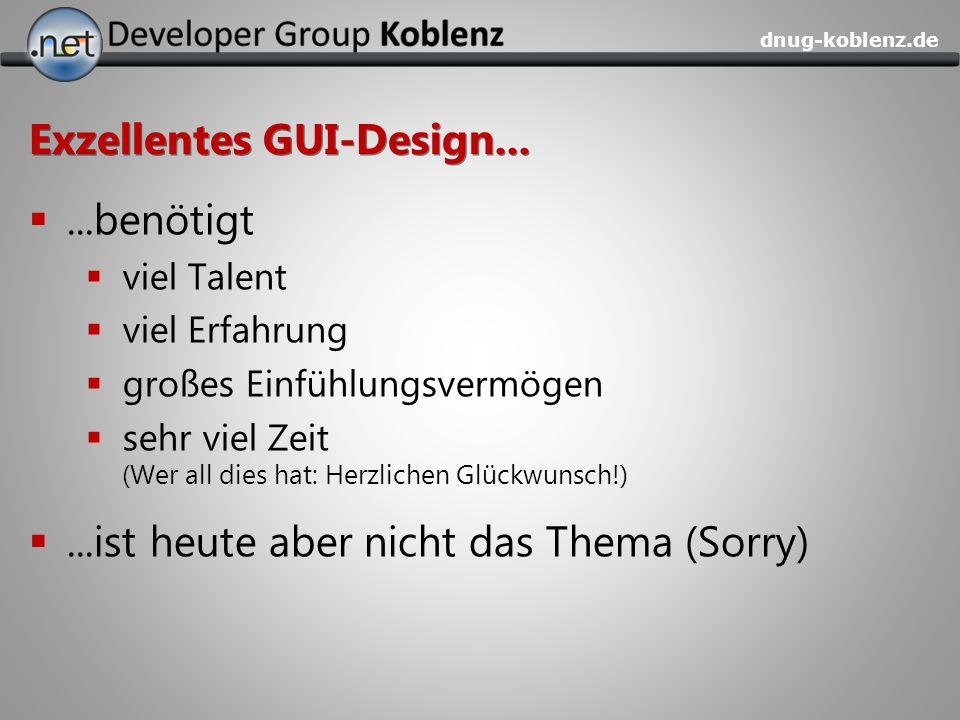 Exzellentes GUI-Design...