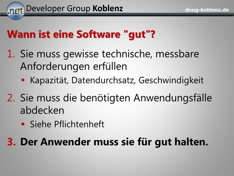 Wann ist eine Software gut