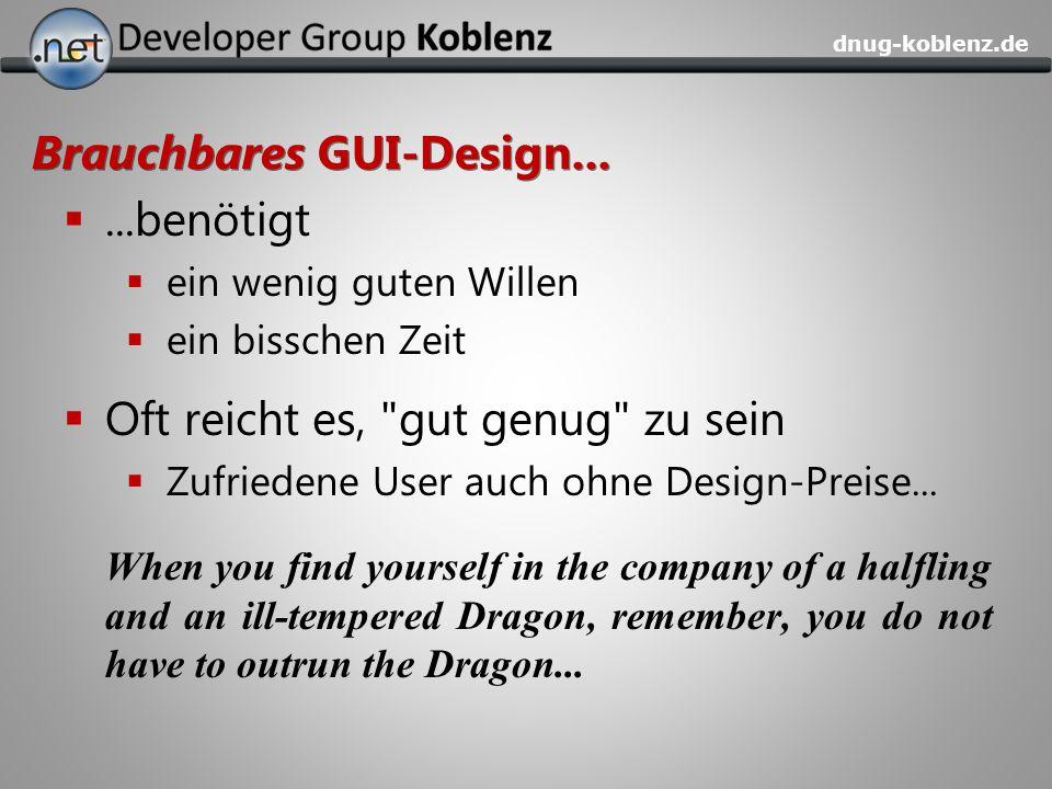 Brauchbares GUI-Design...