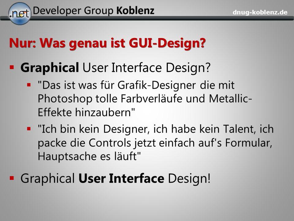Nur: Was genau ist GUI-Design