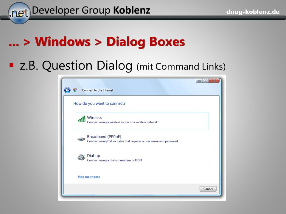 ... > Windows > Dialog Boxes