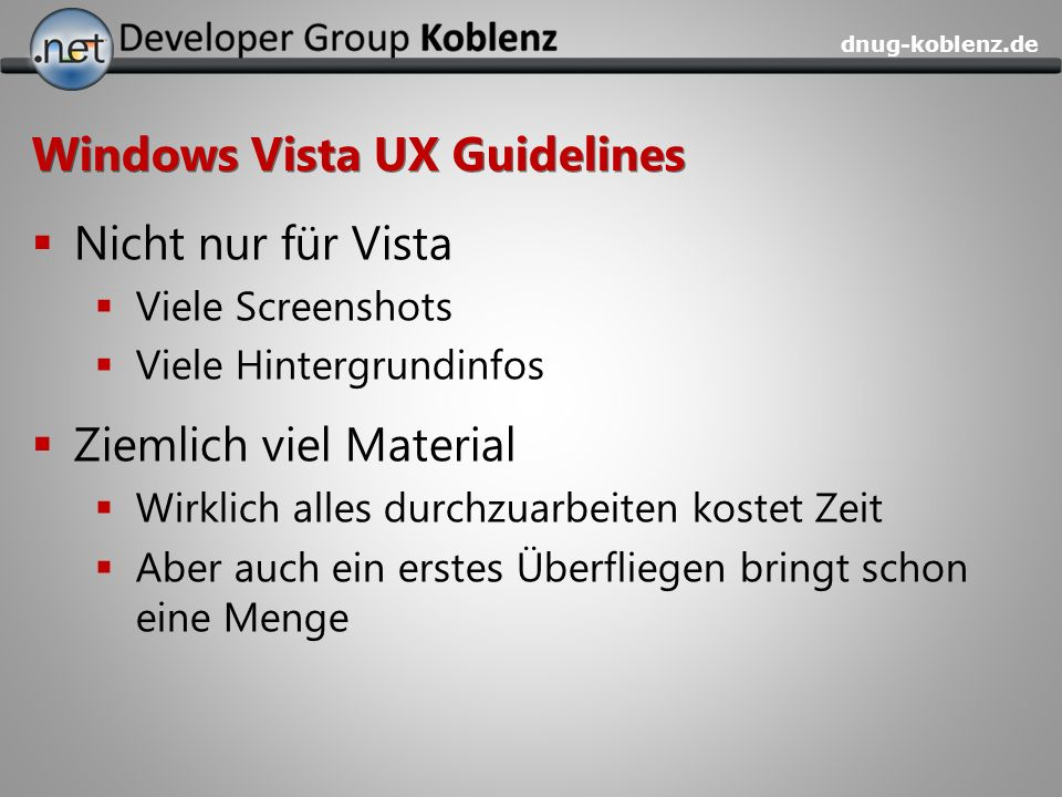 Windows Vista UX Guidelines