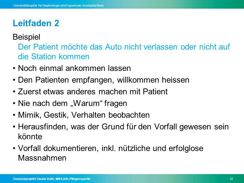 Leitfaden 2 Beispiel Der Patient möchte das Auto nicht verlassen oder nicht auf die Station kommen.
