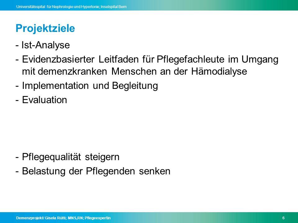 Projektziele - Ist-Analyse