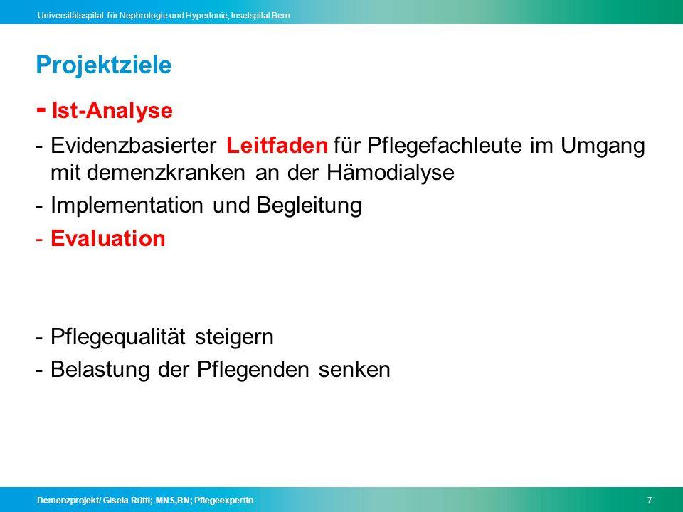 - Ist-Analyse Projektziele