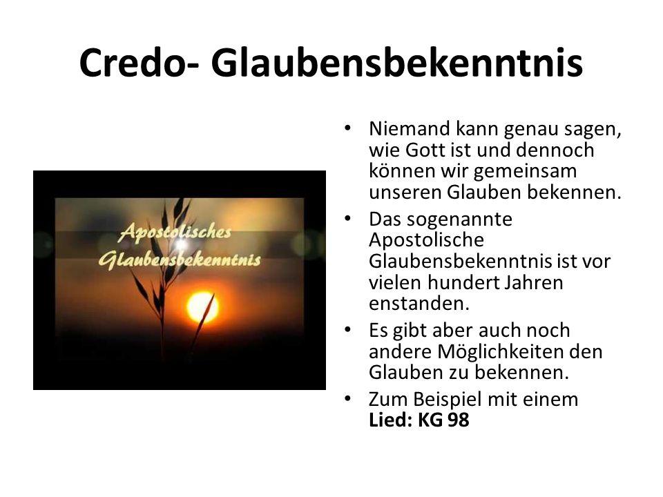 Credo- Glaubensbekenntnis