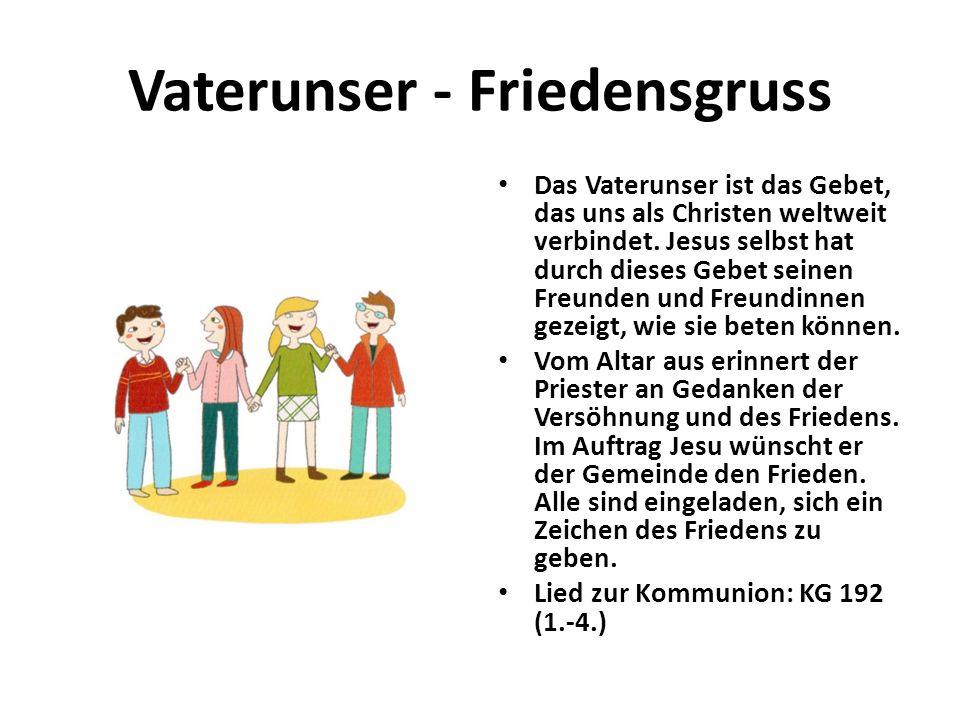 Vaterunser - Friedensgruss