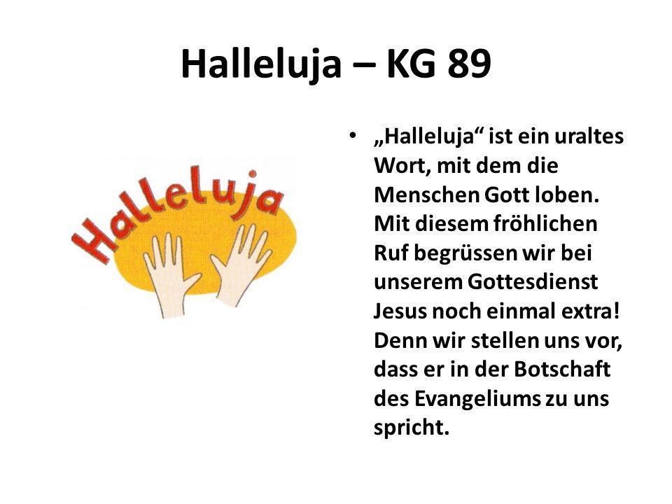 Halleluja – KG 89