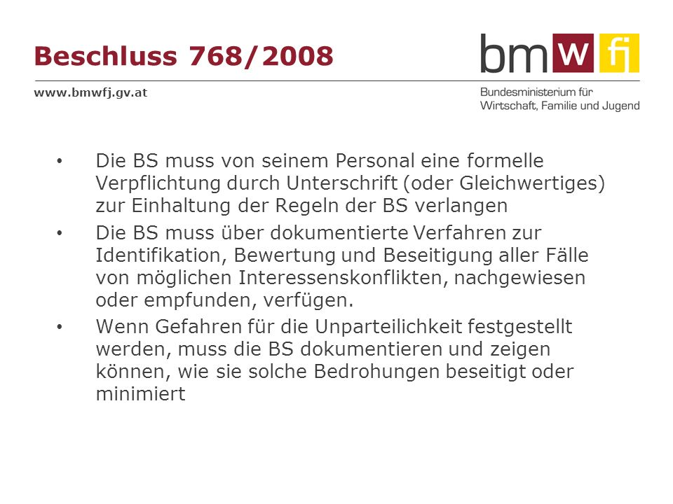 Beschluss 768/2008