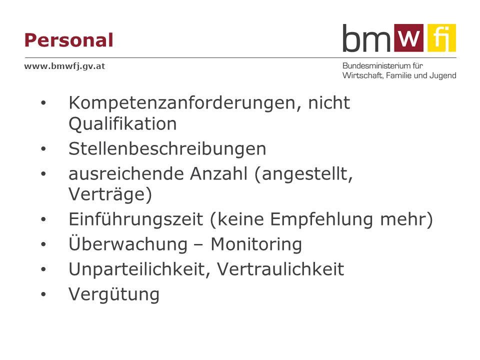 Personal Kompetenzanforderungen, nicht Qualifikation