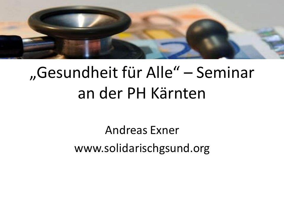 """""""Gesundheit für Alle – Seminar an der PH Kärnten"""