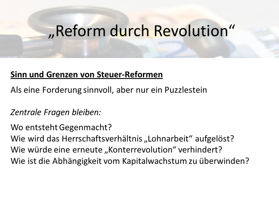 """Reform durch Revolution"