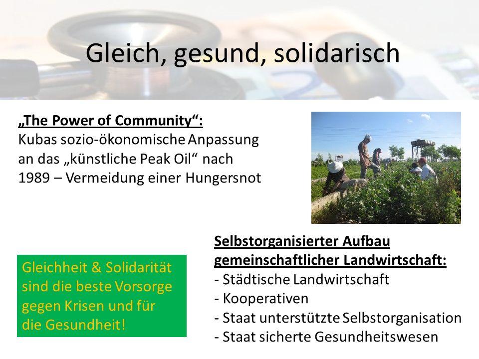 Gleich, gesund, solidarisch