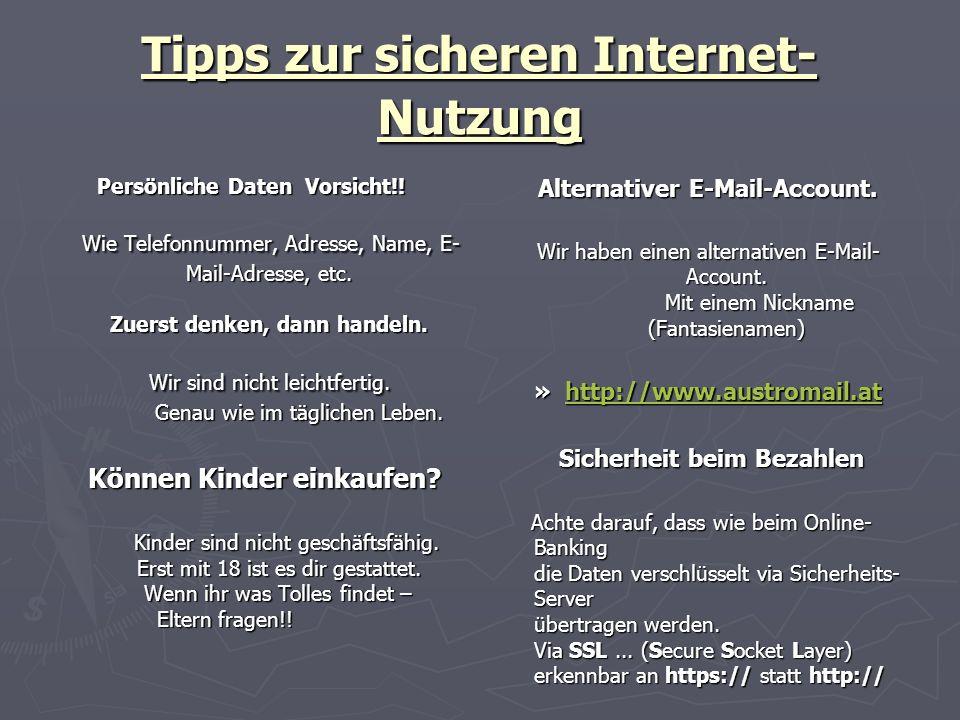 Tipps zur sicheren Internet-Nutzung