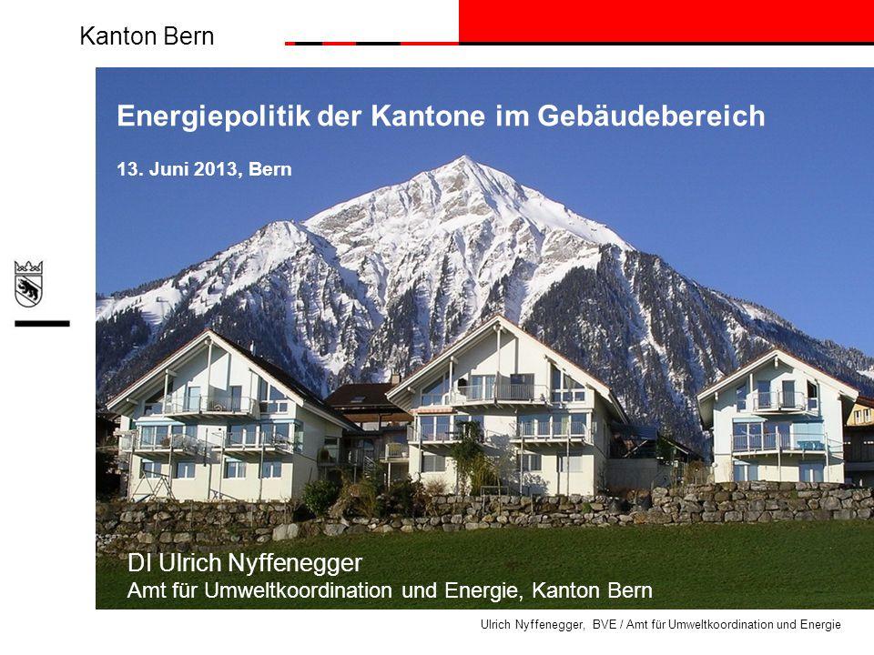Energiepolitik der Kantone im Gebäudebereich