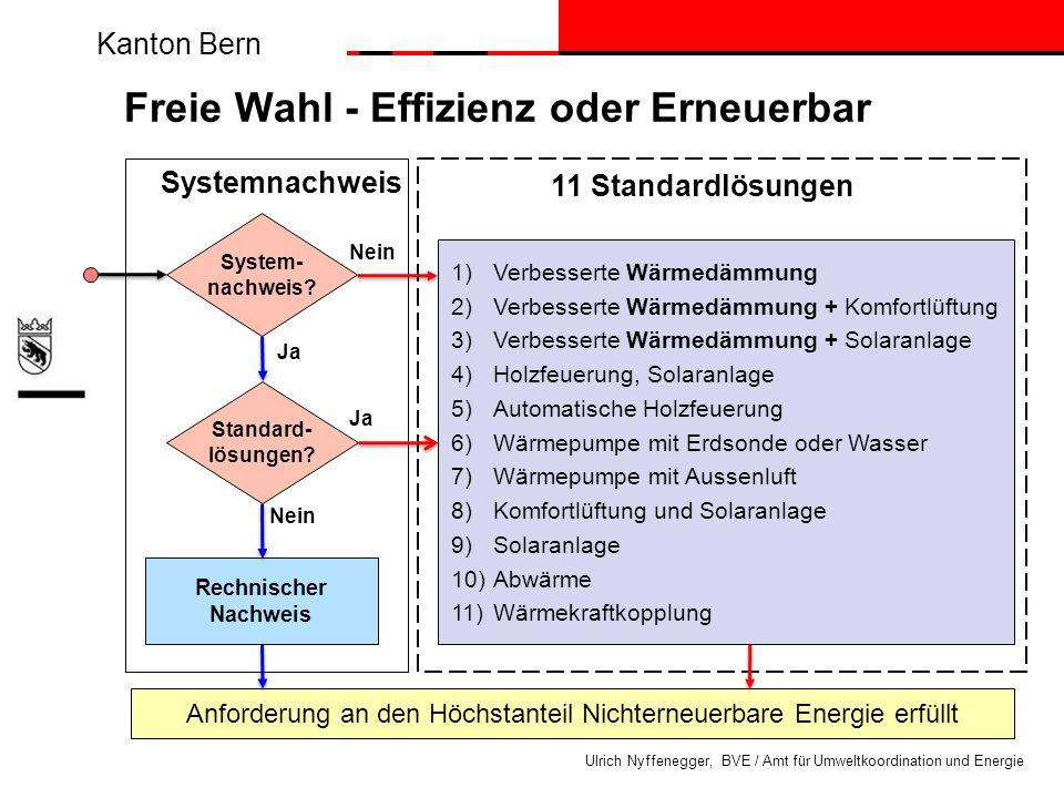 Freie Wahl - Effizienz oder Erneuerbar