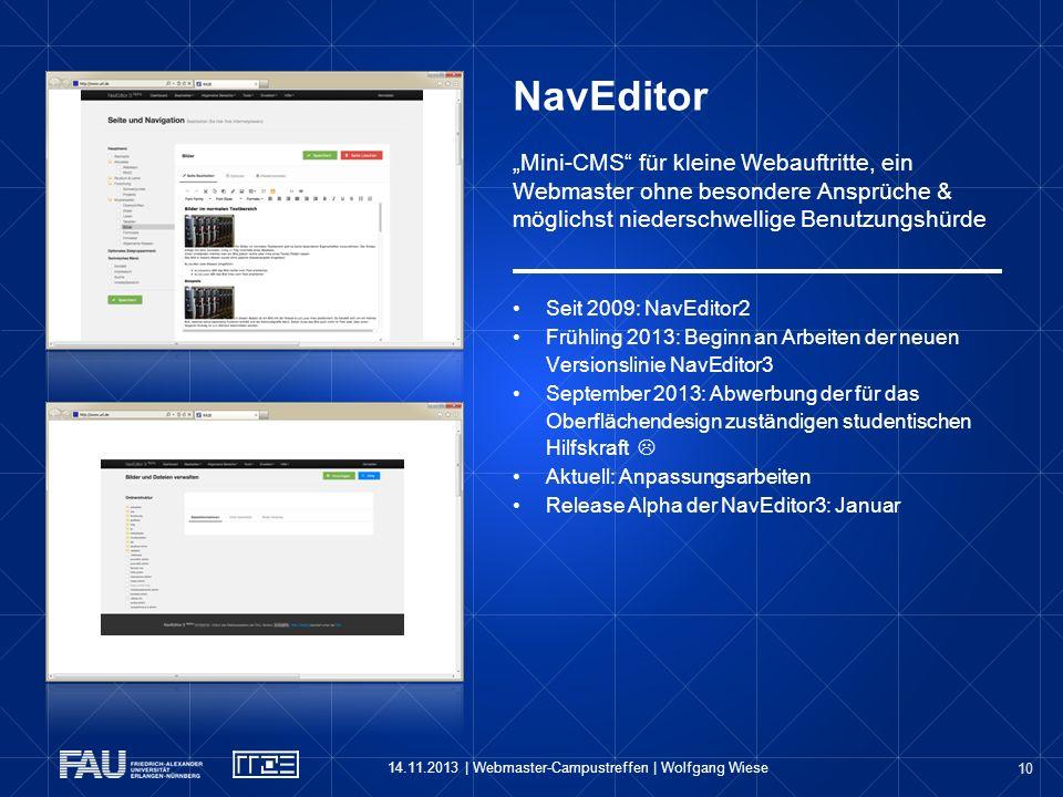 """NavEditor """"Mini-CMS für kleine Webauftritte, ein Webmaster ohne besondere Ansprüche & möglichst niederschwellige Benutzungshürde"""