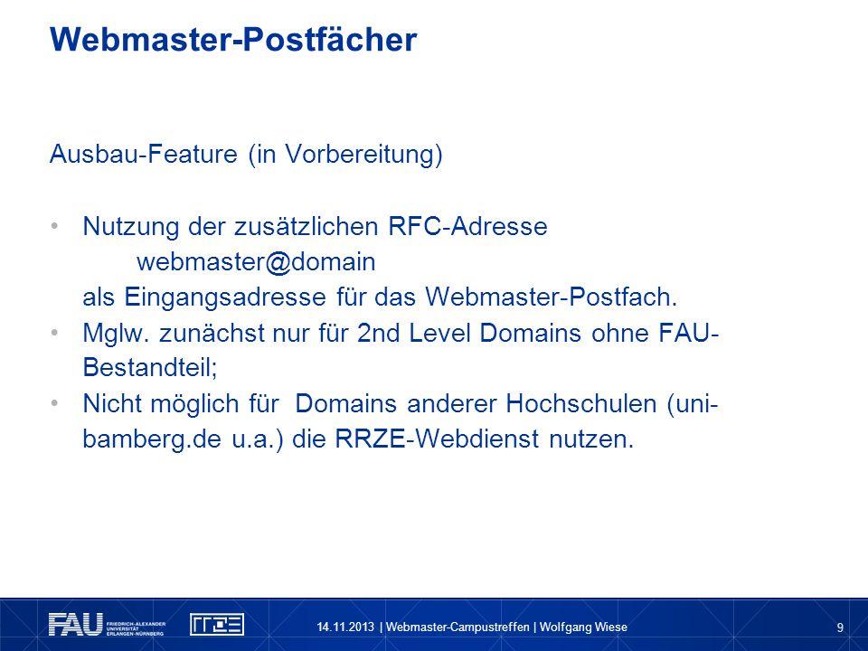 Webmaster-Postfächer