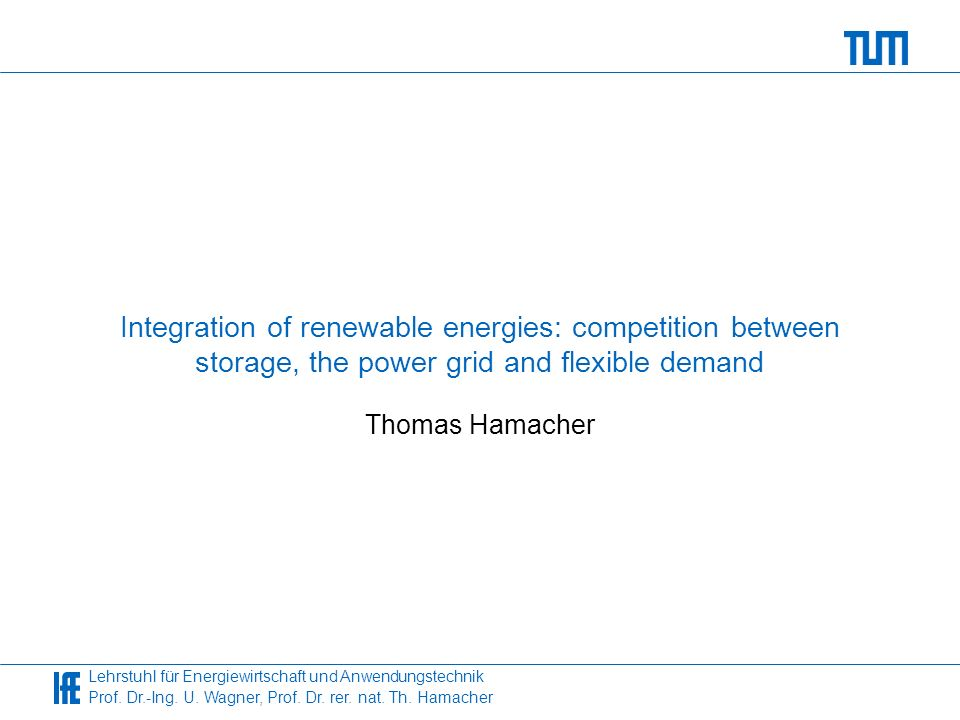 Integration of renewable energies: competition between storage, the power grid and flexible demand
