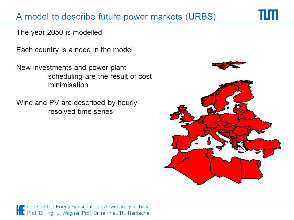 A model to describe future power markets (URBS)