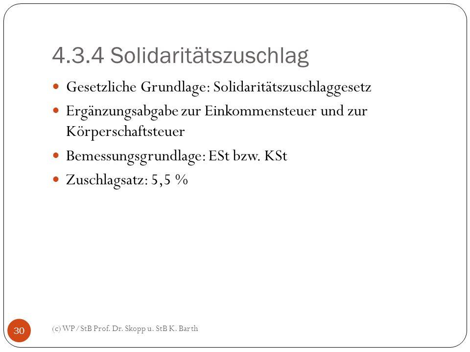 4.3.4 Solidaritätszuschlag