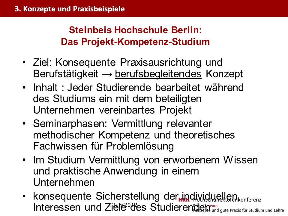 Steinbeis Hochschule Berlin: Das Projekt-Kompetenz-Studium