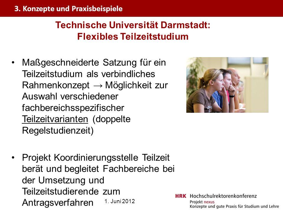 Technische Universität Darmstadt: Flexibles Teilzeitstudium
