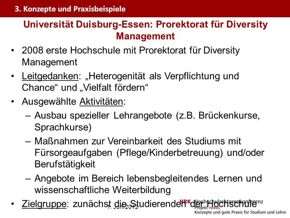 Universität Duisburg-Essen: Prorektorat für Diversity Management