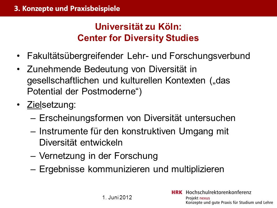 Universität zu Köln: Center for Diversity Studies