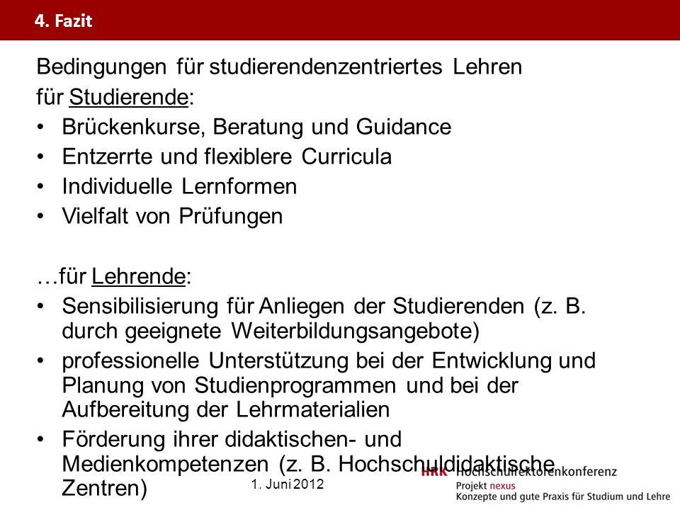 Bedingungen für studierendenzentriertes Lehren für Studierende: