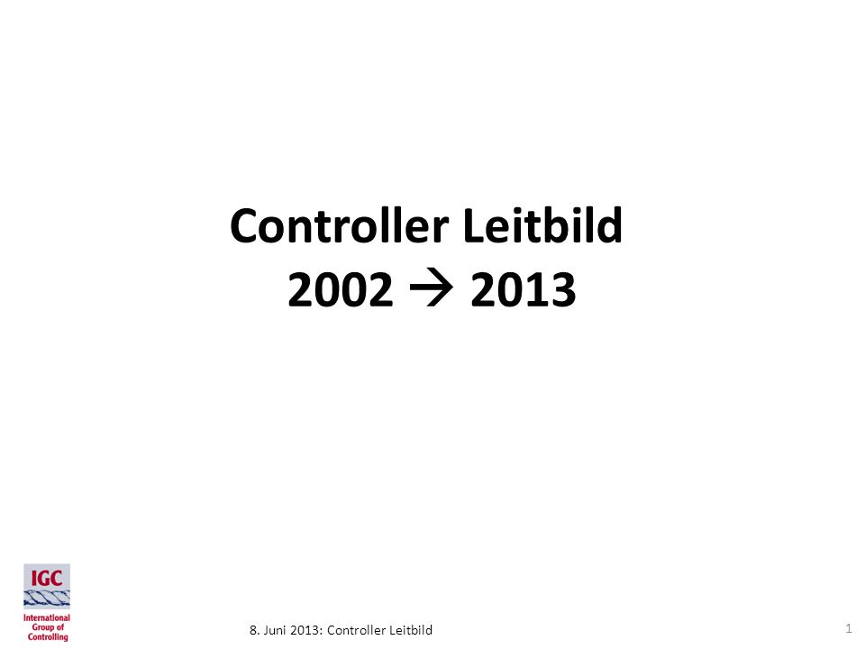 Controller Leitbild 2002  2013