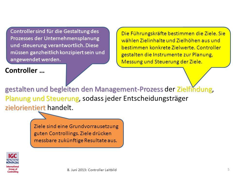 Controller sind für die Gestaltung des Prozesses der Unternehmensplanung und -steuerung verantwortlich. Diese müssen ganzheitlich konzipiert sein und angewendet werden.