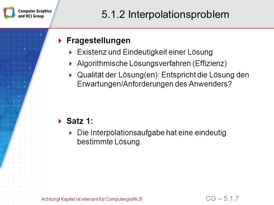 5.1.2 Interpolationsproblem