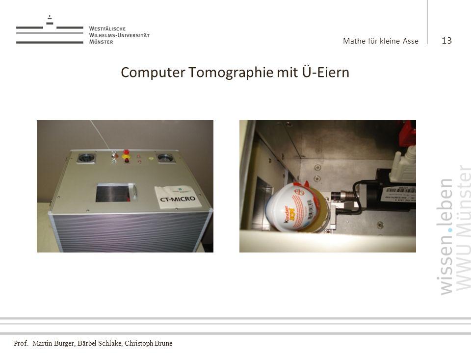 Computer Tomographie mit Ü-Eiern