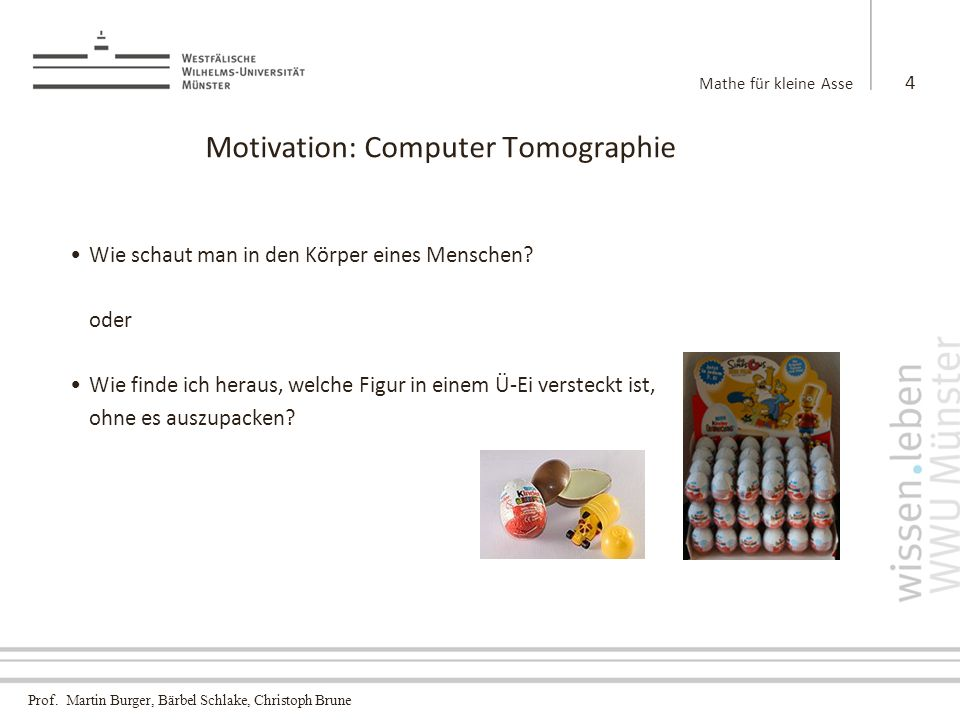 Motivation: Computer Tomographie