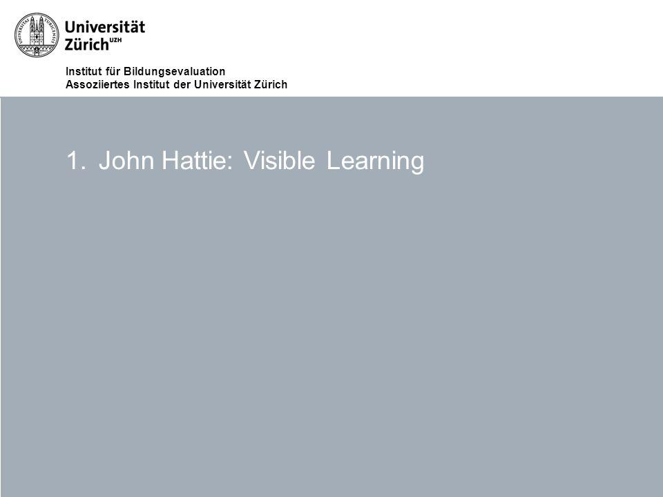 John Hattie: Visible Learning