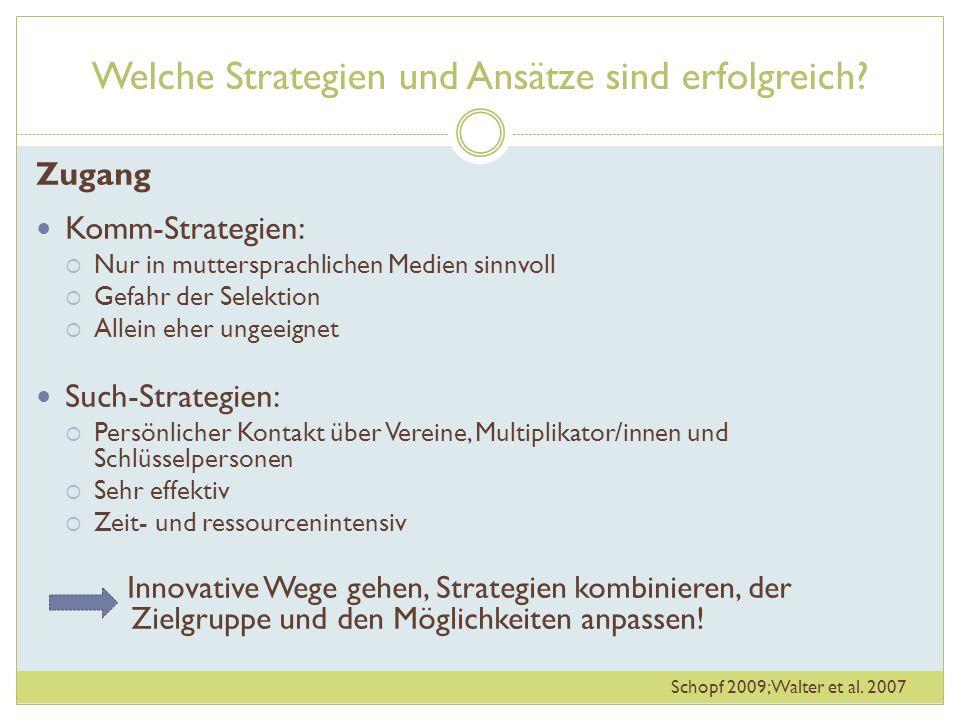 Welche Strategien und Ansätze sind erfolgreich