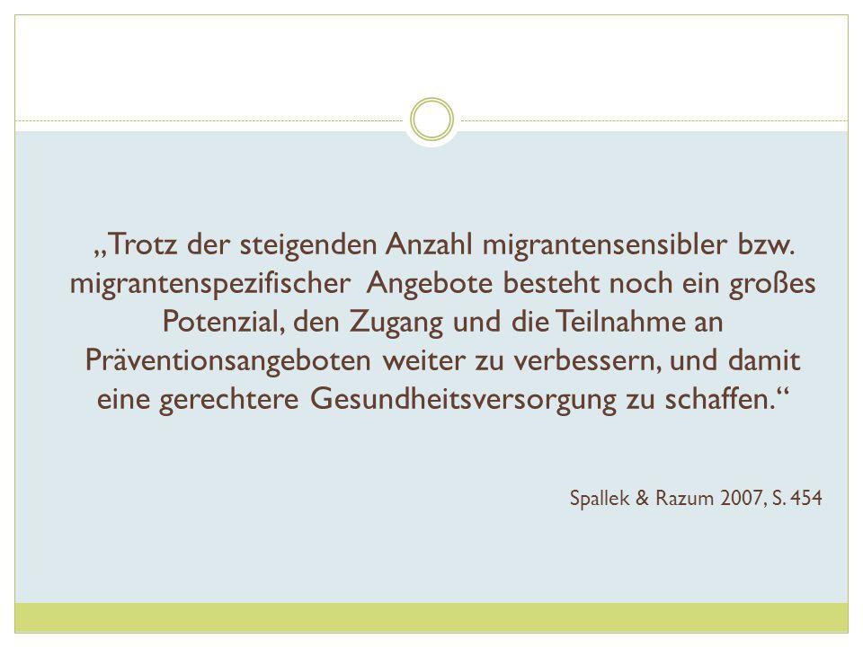 """""""Trotz der steigenden Anzahl migrantensensibler bzw"""