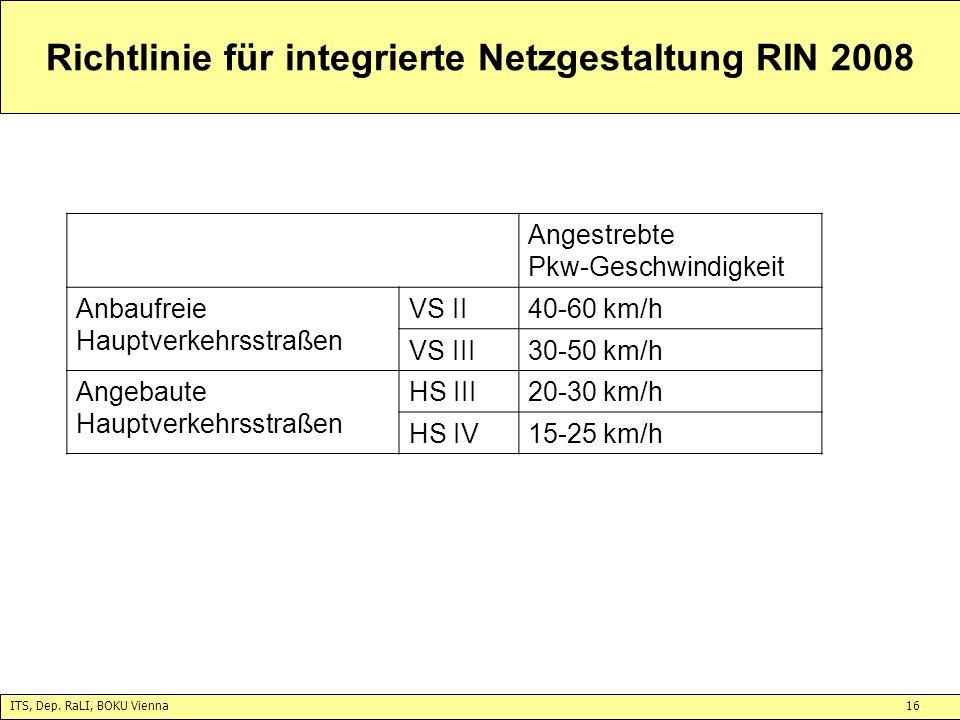 Richtlinie für integrierte Netzgestaltung RIN 2008