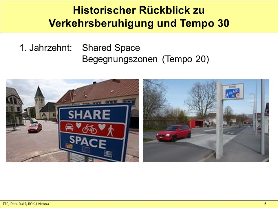 Historischer Rückblick zu Verkehrsberuhigung und Tempo 30