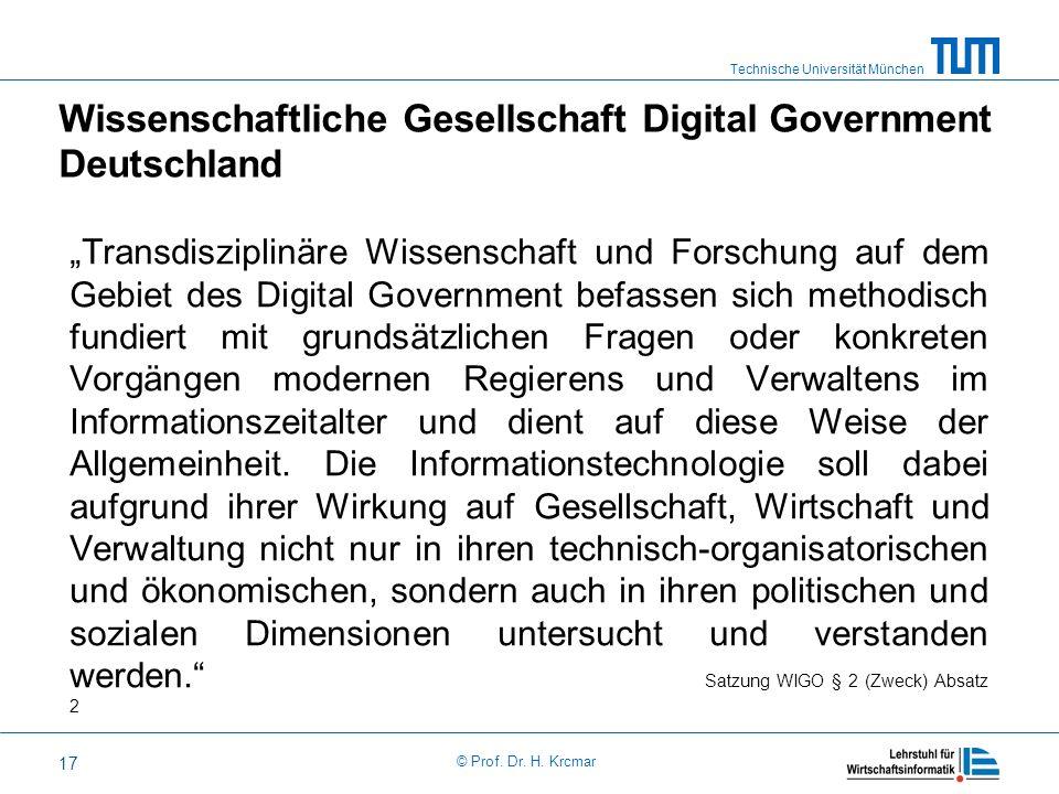Wissenschaftliche Gesellschaft Digital Government Deutschland