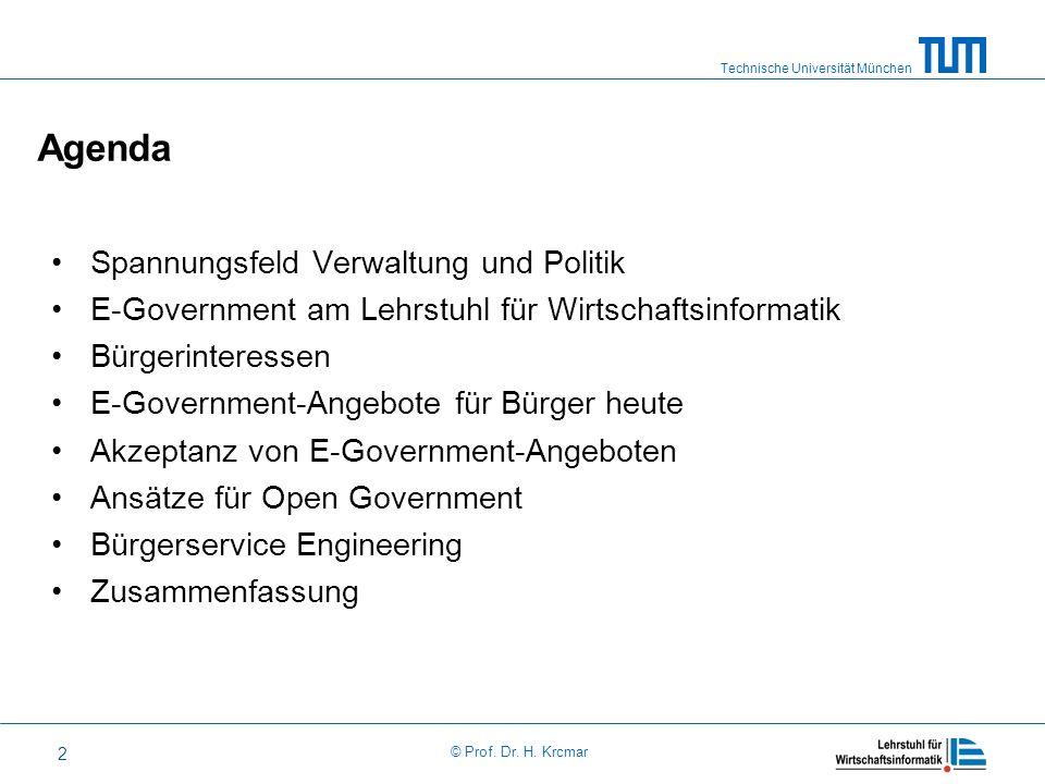 Agenda Spannungsfeld Verwaltung und Politik