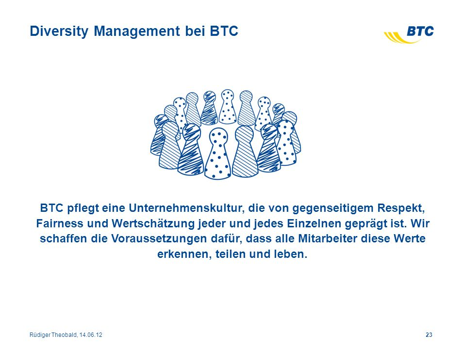 Diversity Management bei BTC