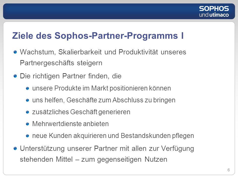Ziele des Sophos-Partner-Programms I