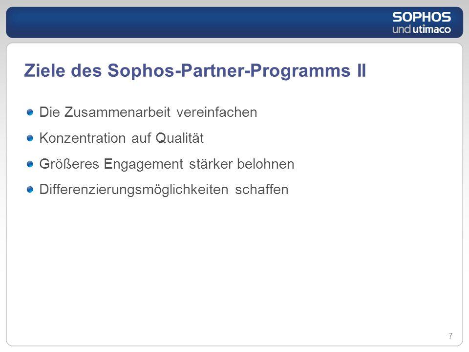 Ziele des Sophos-Partner-Programms II