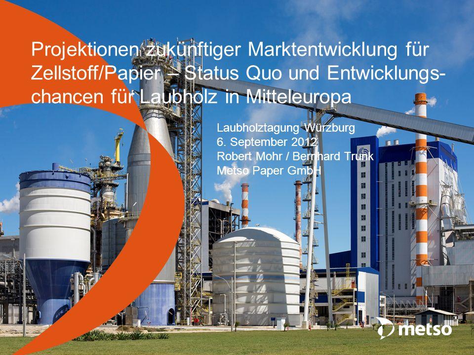 Projektionen zukünftiger Marktentwicklung für Zellstoff/Papier – Status Quo und Entwicklungs-chancen für Laubholz in Mitteleuropa